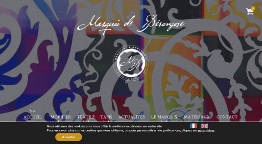 Marquis de Bérangose : mobilier, textile et tapis