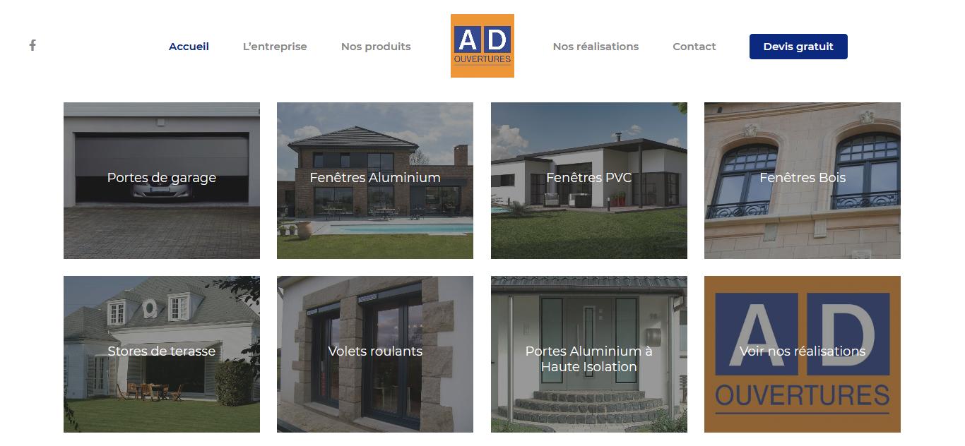 AD Ouvertures, spécialiste des portes d'entées en aluminium